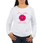 Pink Daisy Bride Women's Long Sleeve T-Shirt