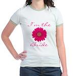 Pink Daisy Bride Jr. Ringer T-Shirt