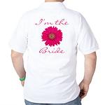 Pink Daisy Bride Golf Shirt