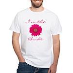 Pink Daisy Bride White T-Shirt