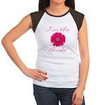 Pink Daisy Bride Women's Cap Sleeve T-Shirt