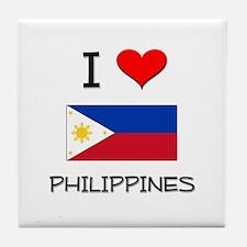 I Love Philippines Tile Coaster