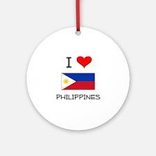 I Love Philippines Ornament (Round)