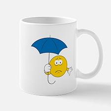 Umbrella Sad Smiley Face Mug