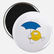 Umbrella Sad Smiley Face Magnet