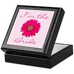 Pink Daisy Bride Keepsake Box