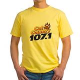 Radio station Mens Yellow T-shirts