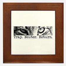 Trap. Neuter. Return. Framed Tile
