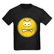 Snarling/Growling Smiley Face T