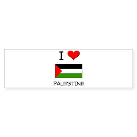 I Love Palestine Bumper Sticker