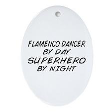 Flamenco Dancer Superhero by Night Oval Ornament