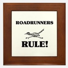 Roadrunners Rule! Framed Tile
