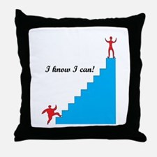 I can - weight loss Throw Pillow