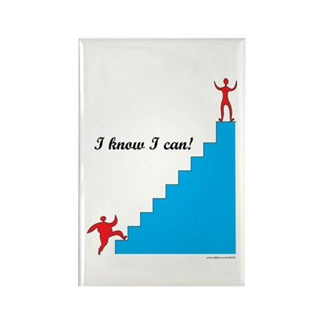 I can - weight loss Rectangle Magnet (10 pack)