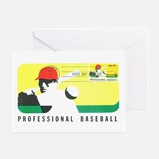 Baseball Stamp Greeting Card