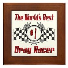 Drag Racer Framed Tile