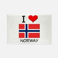 I Love Norway Rectangle Magnet