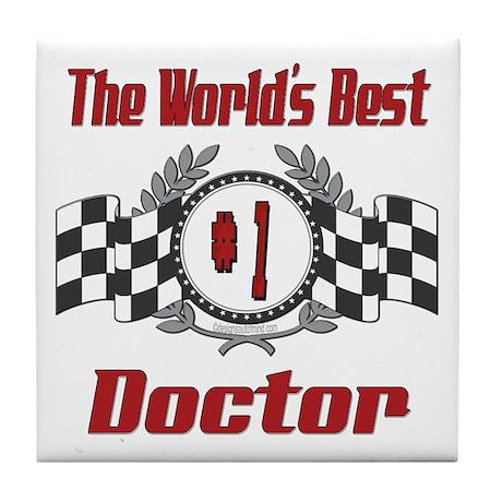 Racing Doctor Tile Coaster