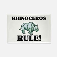 Rhinoceros Rule! Rectangle Magnet