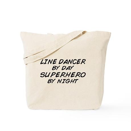Line Dancer Superhero by Night Tote Bag