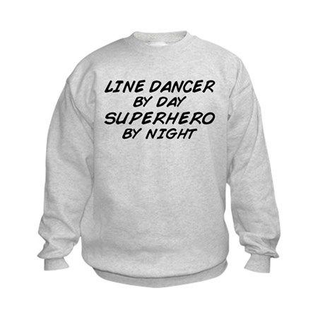 Line Dancer Superhero by Night Kids Sweatshirt