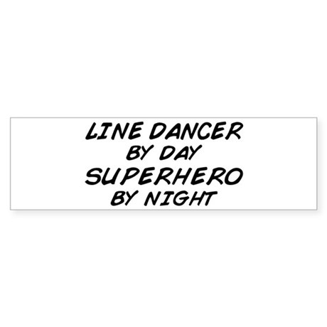 Line Dancer Superhero by Night Bumper Sticker