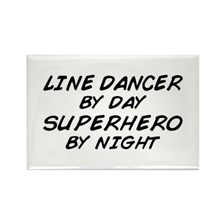 Line Dancer Superhero by Night Rectangle Magnet