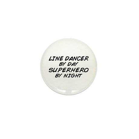 Line Dancer Superhero by Night Mini Button