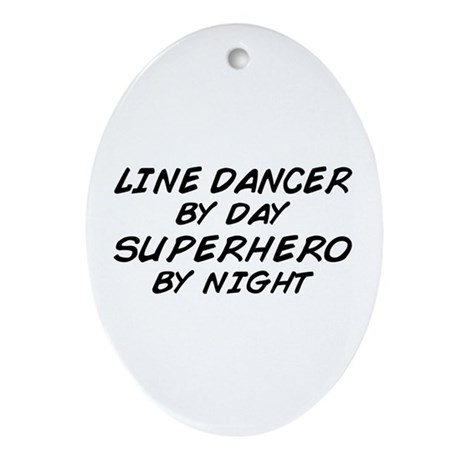 Line Dancer Superhero by Night Oval Ornament