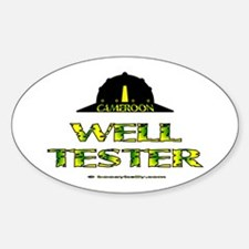 Cameroon Well Tester Oval Decal