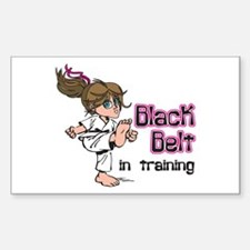 Black Belt in Training Rectangle Decal