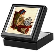 Flapper with Embroidery Hoop Keepsake Box