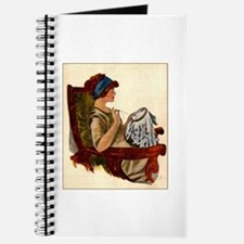 Flapper with Embroidery Hoop Journal