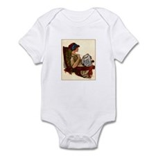 Flapper with Embroidery Hoop Infant Bodysuit