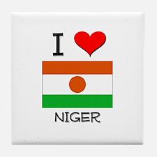 I Love Niger Tile Coaster