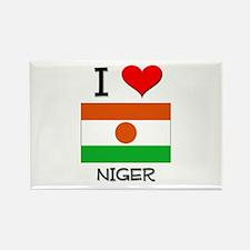 I Love Niger Rectangle Magnet