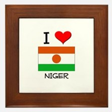 I Love Niger Framed Tile