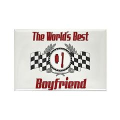Racing Boyfriend Rectangle Magnet