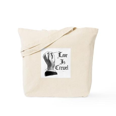 Love is Crewel Tote Bag