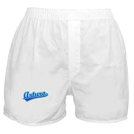 Retro Arturo (Blue) Boxer Shorts