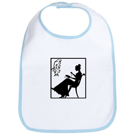 Silhouette Woman with Embroid Bib