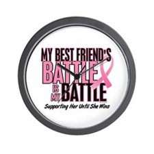 My Battle Too 1 (Best Friend BC) Wall Clock