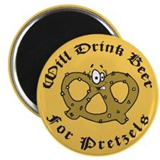 Will Drink Beer For Pretzels Magnet