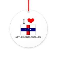 I Love Netherlands Antilles Ornament (Round)