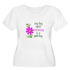 Any Day Spent Stitching - Goo T-Shirt