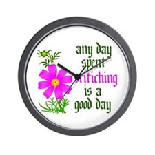 Any Day Spent Stitching - Goo Wall Clock