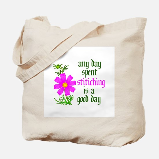 Any Day Spent Stitching - Goo Tote Bag