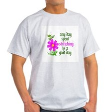 Any Day Spent Stitching - Goo T-Shirt