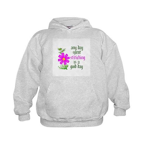 Any Day Spent Stitching - Goo Kids Hoodie