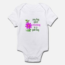 Any Day Spent Stitching - Goo Infant Bodysuit